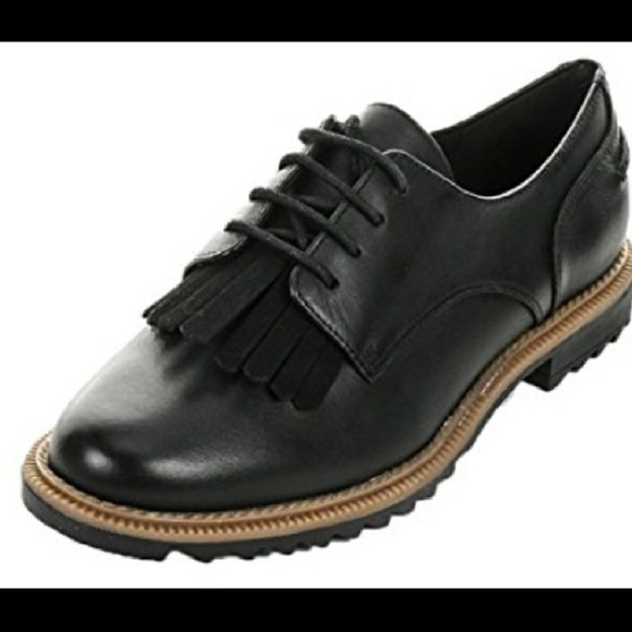 48dbab1942d66 Clarks Griffin Mabel Leather Oxfords Black 8M. M_5a66a4416bf5a6f992b7aef8.  Other Shoes ...